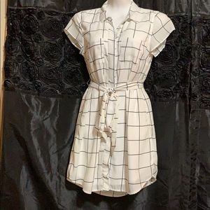 Black and white grid dress